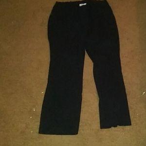 Kim rogers black stretchy waist dress pants